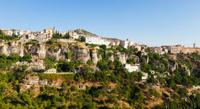 Houses on rock in Cuenca. Castilla-La Mancha Stock Image