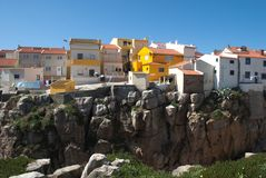 Houses in the rocks Royalty Free Stock Photo
