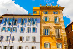 Houses in Rome, Italy. Stock Photo