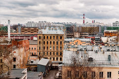 Houses and roofs in the centre of St. Petersburg Royalty Free Stock Image