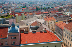 Houses and roofs of Vienna Royalty Free Stock Image