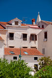 Houses and rooftops at Mali Losinj town. In Croatia Royalty Free Stock Photography