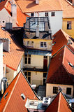 Houses and rooftops of Old Town, Prague Royalty Free Stock Photo