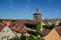 Houses in Rothenberg ob der tauber, Germany Royalty Free Stock Photos