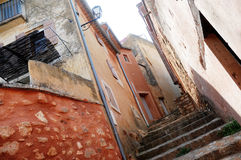 Houses in Roussillon Royalty Free Stock Photos