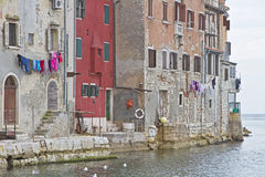 Houses in Rovinj Royalty Free Stock Photography