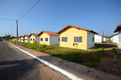 Houses in row. Row of simple houses - Belem - Brazil stock images