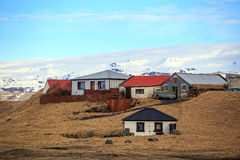 Houses in rural area in Iceland Royalty Free Stock Photography