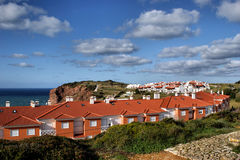 Houses in S. Martinho do Porto Royalty Free Stock Images