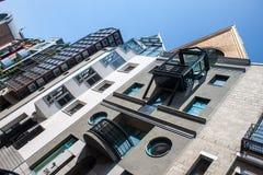Houses in Saalgasse street  in Frankfurt Stock Photography