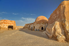Houses in the Sahara Royalty Free Stock Photos
