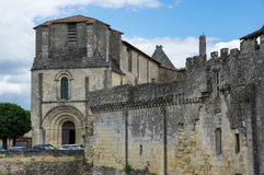 Houses of Saint-Emilion. Saint-Emilion - one of the main red wine production areas of Bordeaux region, France. The town is a UNESCO World Heritage site stock images