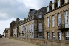 The houses of Saint-Malo. Tourism medieval in Saint-Malo, France Stock Photos