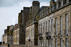 Houses of Saint-Malo. Tourism medieval in Saint-Malo, France Stock Photography