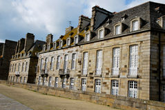 Houses of Saint-Malo. Tourism medieval in Saint-Malo, France Stock Images