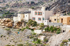 Houses Saiq Plateau. Image of houses on Saiq Plateau in Oman Royalty Free Stock Photography