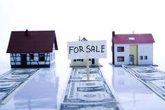Houses for sale & Money Stock Photos