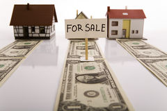 Houses for sale & Money Royalty Free Stock Images