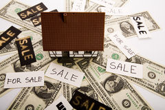 Houses for sale & Money Stock Image