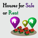 Houses for sale or rent Royalty Free Stock Photography