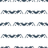 Houses for sale seamless pattern background. Royalty Free Stock Photos