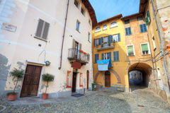 Houses of Saluzzo. Stock Images