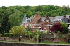 Houses on Sambre River, Namur, Belgium Stock Image