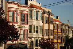 Houses of san francisco. Typical houses of san franciscoq royalty free stock image