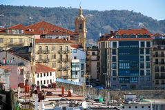 Houses of San Sebastian Royalty Free Stock Images