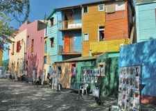 Houses in San Telmo. Colorful Houses in San Telmo, Buenos Aires Royalty Free Stock Images