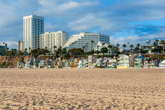 Houses on Santa Monica Beach California Royalty Free Stock Photography