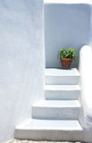 Houses of Santorini in details Stock Photos