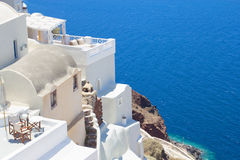 Houses at Santorini island in Greece Royalty Free Stock Image