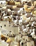 houses santorinithira arkivfoton