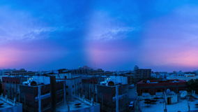 Houses in saudi arabia at cloudy twilight time lapse loop. Houses in saudi arabia at cloudy twilight time lapse seamless loop stock video footage