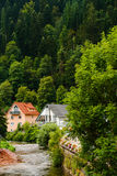 Houses in schiltach black forest, Germany Royalty Free Stock Image