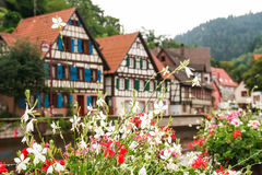 Houses in schiltach black forest, Germany Stock Photo