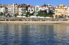 Houses by the sea. In Cascais, Portugal royalty free stock photo