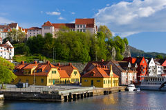 Houses by the sea Stock Image