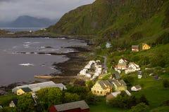 Houses on a sea coast Royalty Free Stock Photos