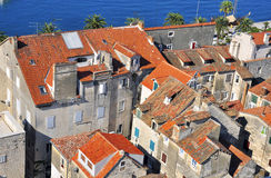 Houses at the sea. Split, Croatia Royalty Free Stock Images