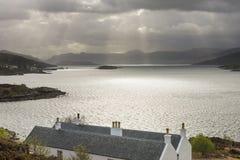 Houses, Sea and Sunbeams Stock Image