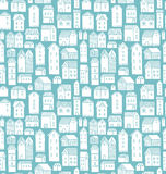 Houses seamless pattern Royalty Free Stock Photo