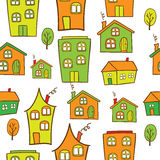 Houses seamless Royalty Free Stock Images