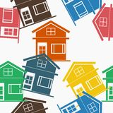Houses Seamless Pattern Royalty Free Stock Image