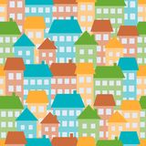 Houses seamless pattern Royalty Free Stock Photography