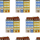 Houses seamless pattern Royalty Free Stock Images