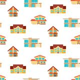Houses seamless repeat pattern royalty free illustration