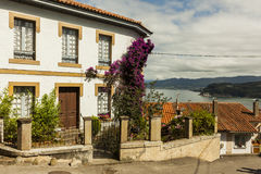 Houses and seascape in Lastres, sailor coastal village Stock Photography