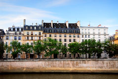 Houses on Seine Royalty Free Stock Images